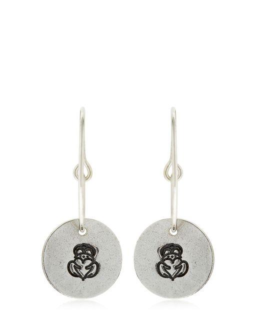 GIOIELLI CORSINI - Metallic Compass Rose Pendant Hoop Earrings - Lyst