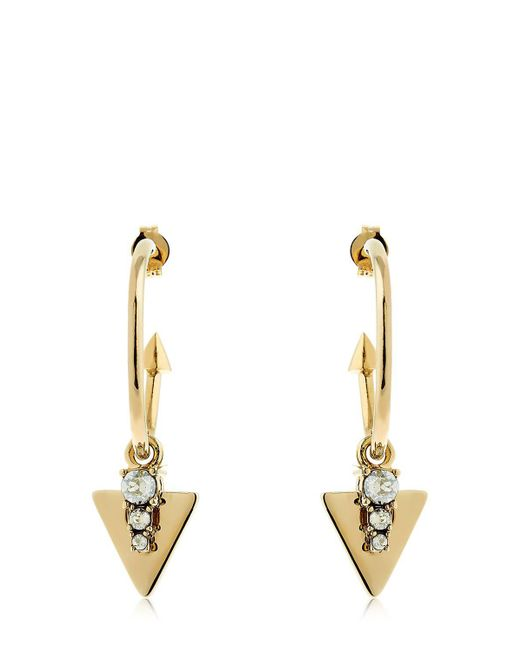 Schield - Metallic Hoop Earrings - Lyst