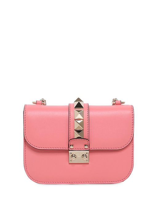 Valentino | Pink Small Lock Nappa Leather Shoulder Bag | Lyst