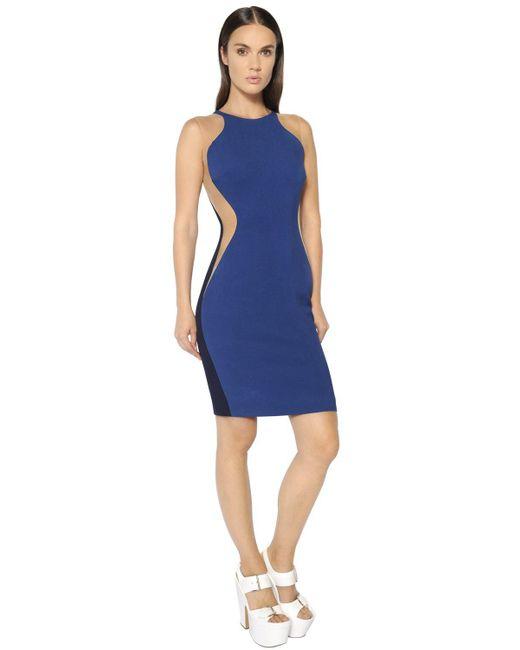 Stella McCartney   Blue Stretch Cady Dress   Lyst