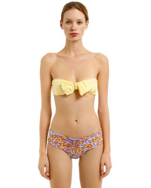 Albertine - Multicolor Georgia Striped & Floral Lycra Bikini - Lyst