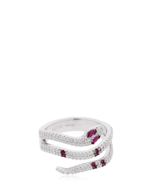 Apm Monaco - Multicolor Red Kaa Ring - Lyst