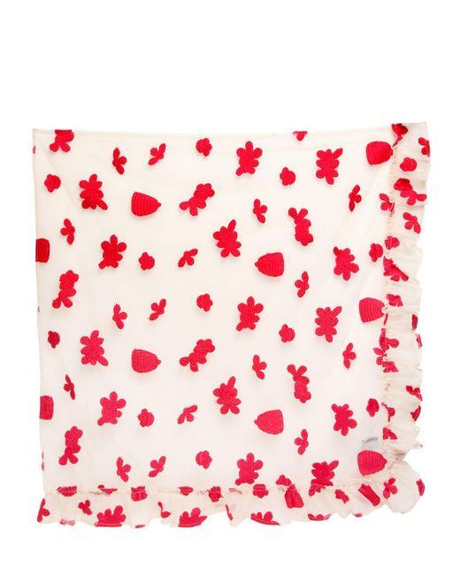 Simone Rocha | White Embroidered Cotton Tulle Veil | Lyst
