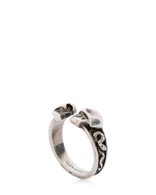 Alexander McQueen - Metallic Skulls & Snakes Ring for Men - Lyst