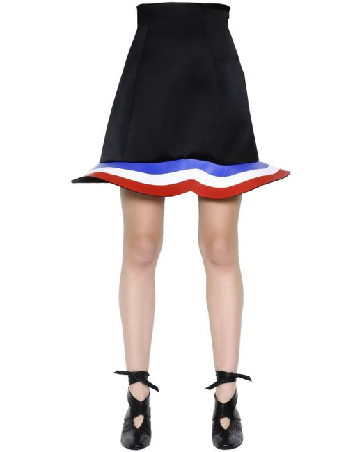 J.W. Anderson - Black Stretch Wool & Viscose Scuba Skirt - Lyst