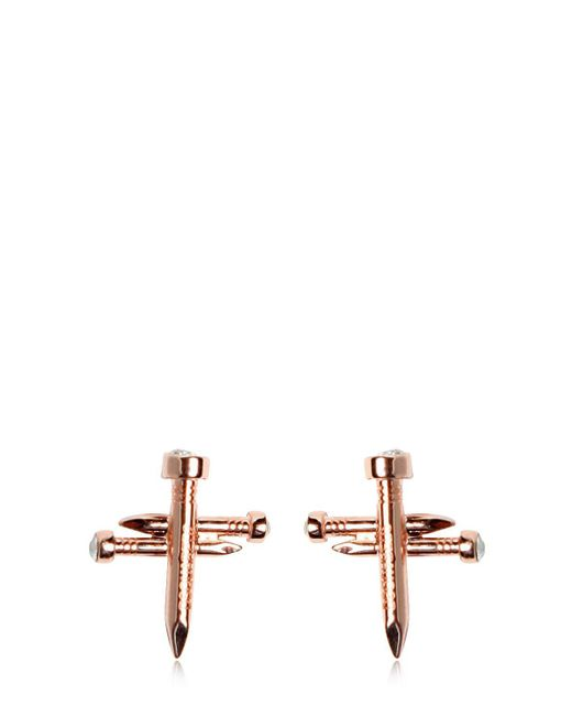 DSquared² | Pink Nail Cross Earrings | Lyst