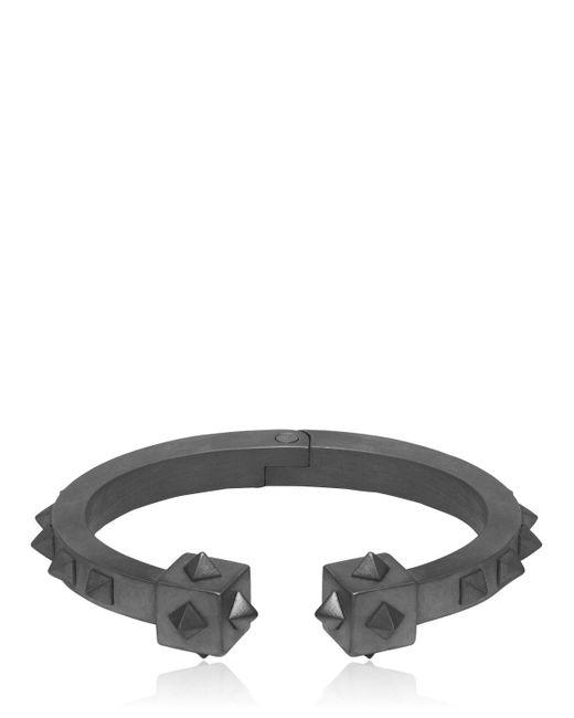 Northskull - Black Oloye Studded Gunmetal Cuff Bracelet for Men - Lyst