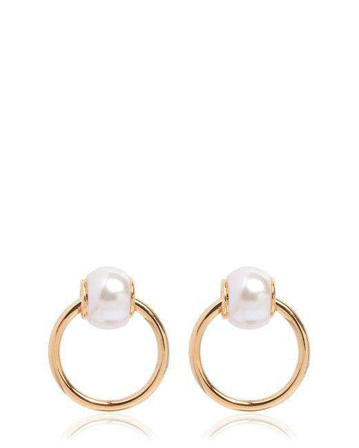 DSquared² - Metallic Imitation Pearls Earrings - Lyst