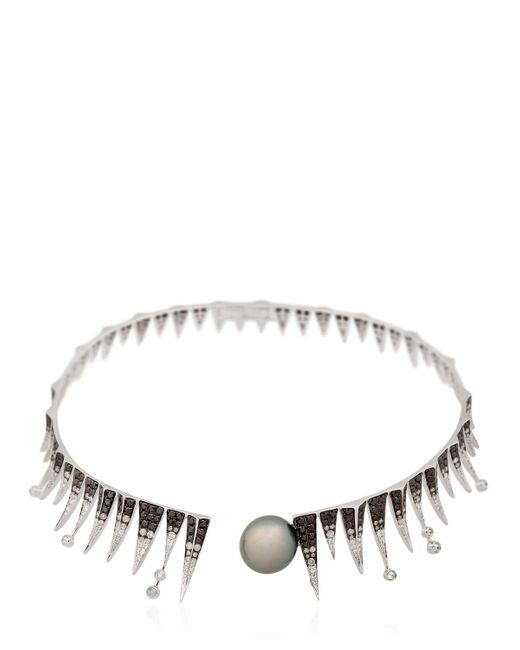 Colette | Black Galaxia Shooting Star Necklace | Lyst