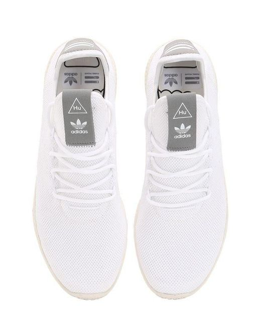 683a347d28cd6 ... Adidas Originals - White Pharrell Williams Knit Sneakers for Men - Lyst  ...