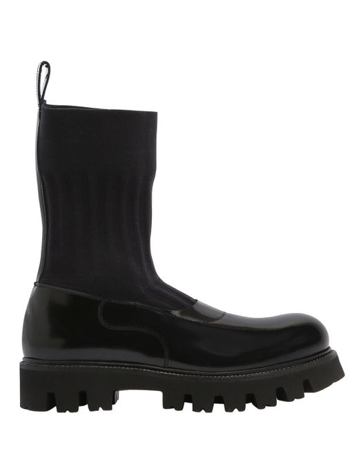 Rocco P - Black 30mm Elastic & Leather Boots - Lyst