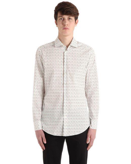 Etro - White Hemd Aus Stretch-baumwollpopeline for Men - Lyst