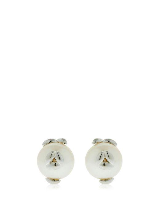 Bea Bongiasca - Metallic Silver Pearl Rice Stuf Earrings - Lyst