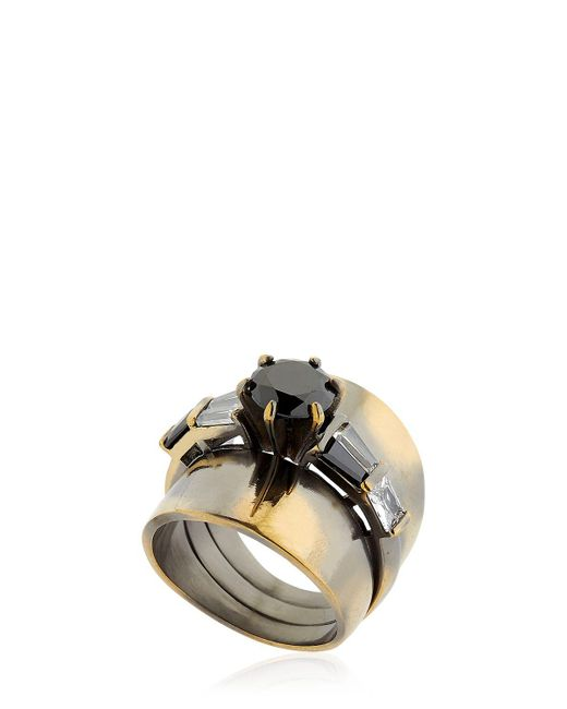 Iosselliani | Metallic Optical Memento Ring | Lyst