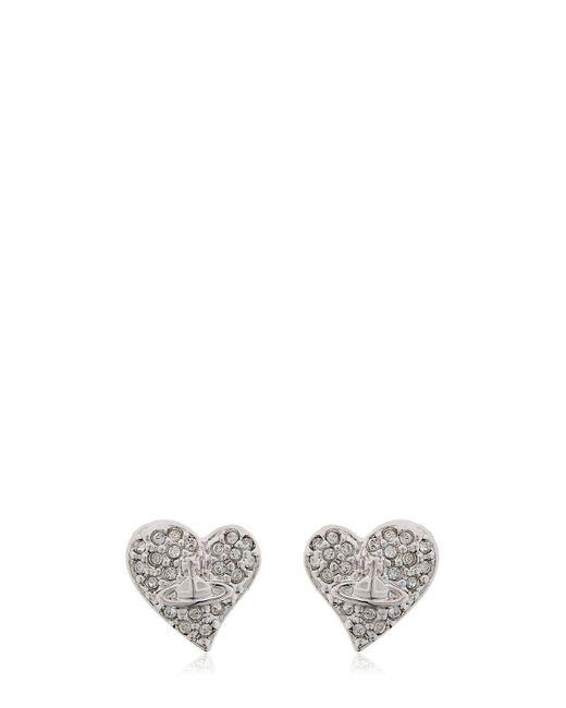 Vivienne Westwood | Metallic Tiny Heart Stud Earrings | Lyst