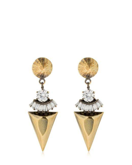 Iosselliani - Metallic Spike Pendant Earrings - Lyst