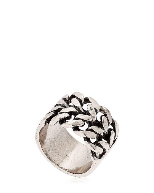 Alcozer & J | Metallic Chain Ring | Lyst