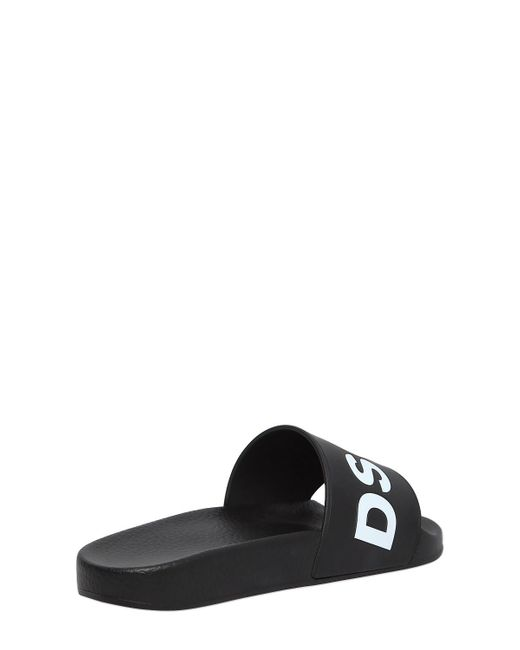 Dsquared2 DUNE LOGO RUBBER SLIDE SANDALS