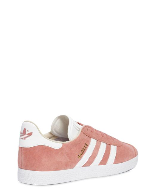 Lyst adidas Originals Gazelle Suede zapatilla en color rosa
