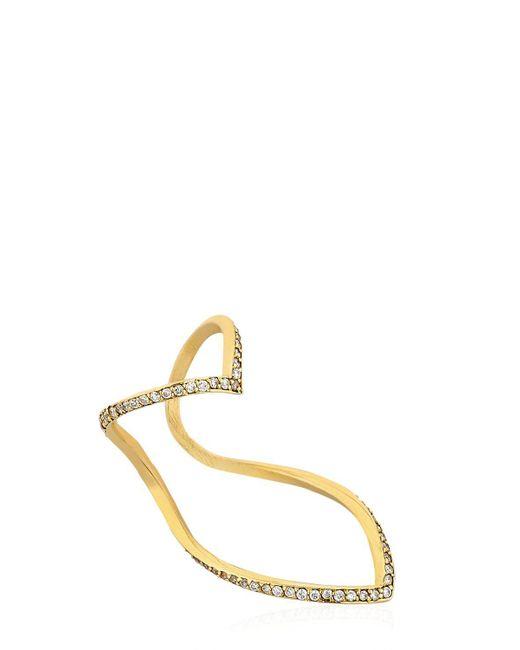 Seeme - Metallic Diamonds Wrap Heart Ring - Lyst
