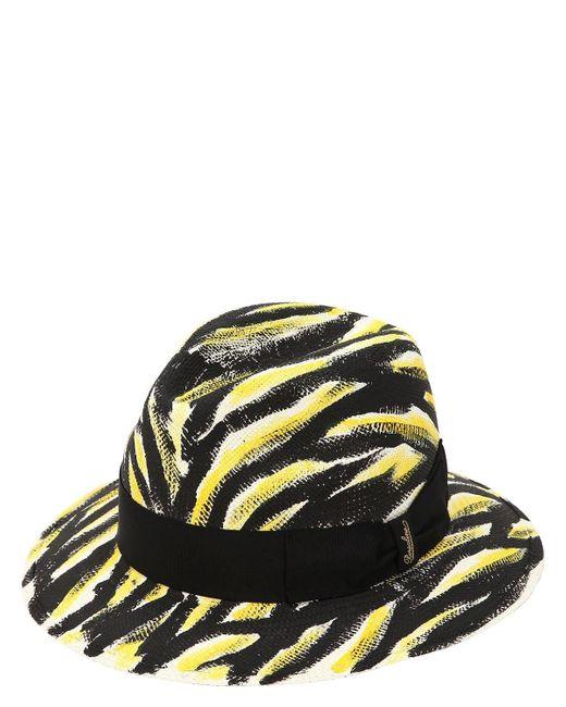 Borsalino - Black Quito Hand Painted Medium Panama Hat for Men - Lyst ... 3e4d1fc9e220