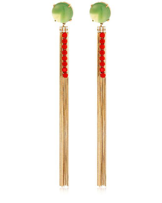 Iosselliani | Metallic Long Fringe Earrings | Lyst