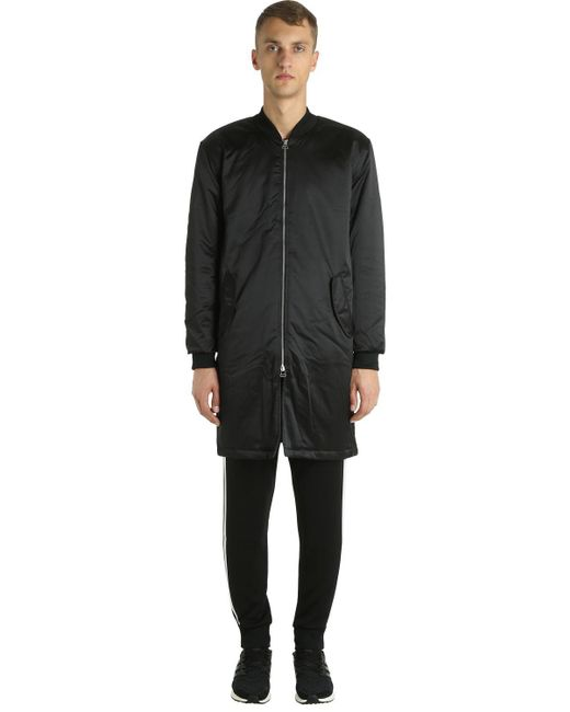 Adidas Originals - Black Sst Hzo Nylon Bomber Coat for Men - Lyst