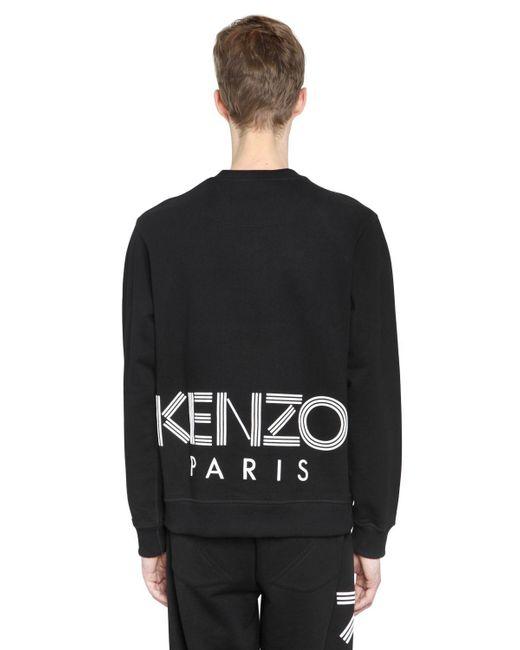 KENZO - Black Back Logo Print Cotton Sweatshirt for Men - Lyst