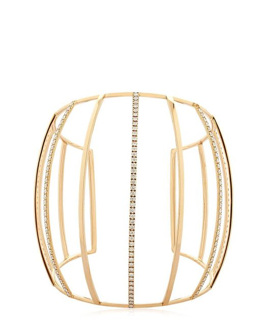 Dauphin | Metallic 3 Strands Diamond Cuff Bracelet | Lyst