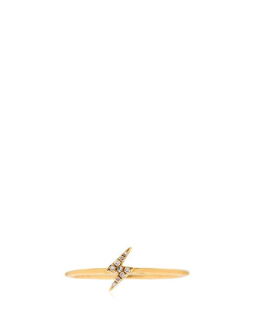EF Collection - Metallic Diamond Lightning Bolt 14kt Gold Ring - Lyst