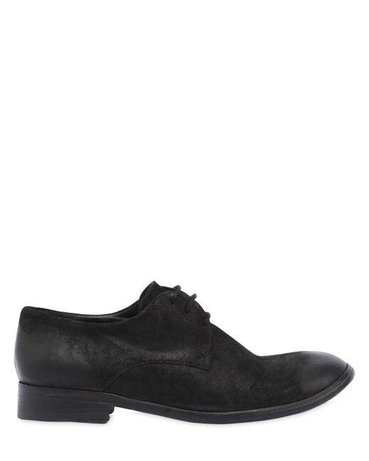 The Last Conspiracy - Black Waxed Suede Lace-up Shoes for Men - Lyst