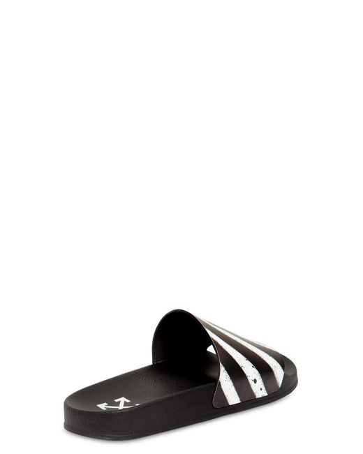 91d6cded1c41 ... Off-White c o Virgil Abloh - Black Spray Stripes Slide Sandals for Men  ...