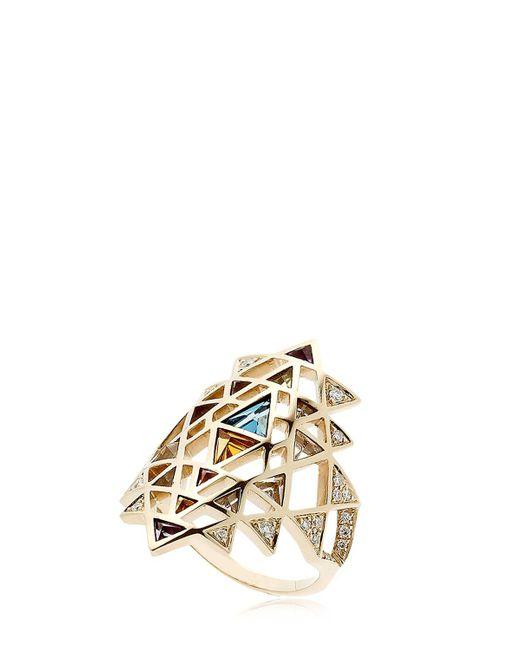 Noor Fares   Metallic Nila Gold Ring   Lyst
