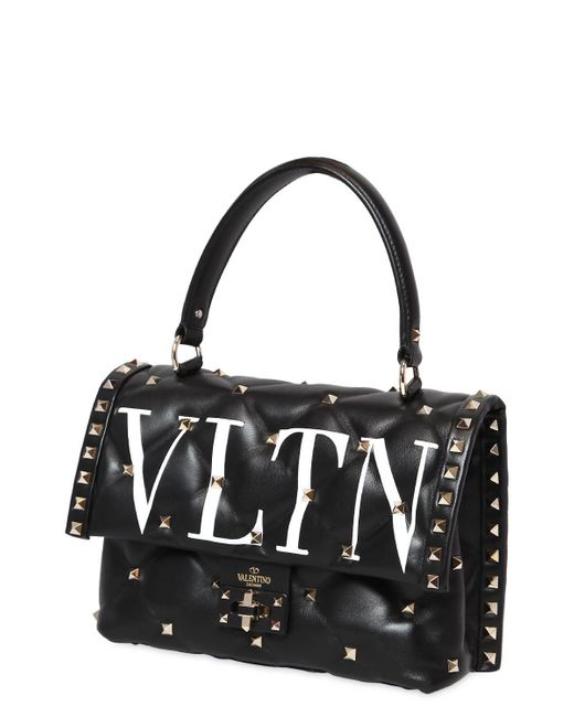 Candy Lock Single Handle Bag in White and Black Calf Valentino paAWqm