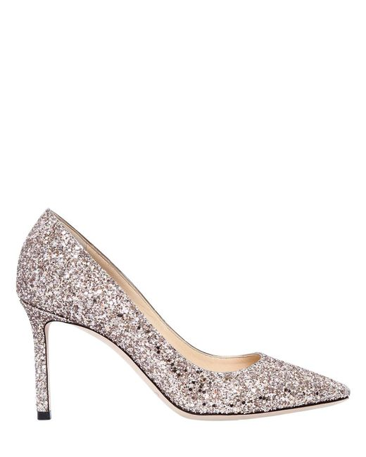 Jimmy Choo - Multicolor 85mm Romy Glittered Pumps - Lyst