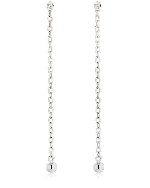 Saskia Diez - Metallic Barbelle Long Chain Earrings - Lyst