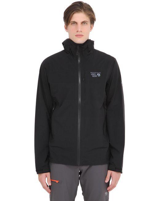 Mountain Hardwear | Black Stretch Ozonic Hardshell Jacket for Men | Lyst