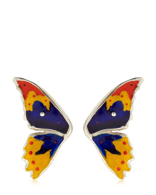 Cantini Mc Firenze | Blue Half Butterfly Earrings | Lyst