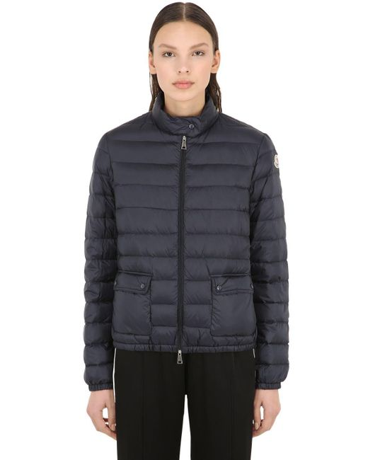 9c4f2abd1d9d Lyst - Moncler Lans Longue Saison Nylon Down Jacket in Blue