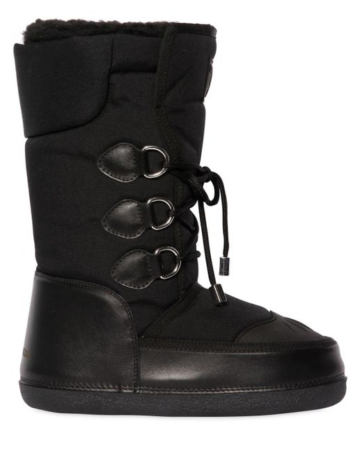 DSquared² - Black Nylon & Leather Snow Boots - Lyst
