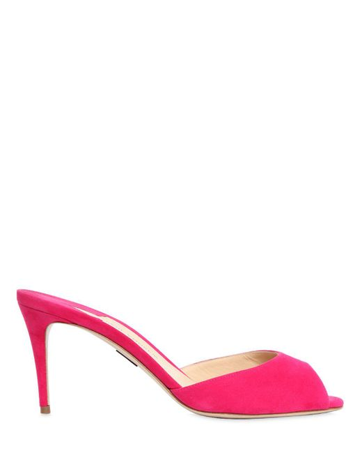 Paul Andrew | Pink 75mm Aristata Suede Sandals | Lyst