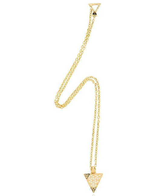 MARCO DAL MASO - Metallic Iwi Gold Necklace With Diamonds - Lyst