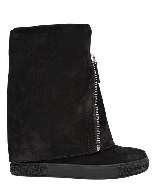 Casadei - Black Stivali In Camoscio 80mm - Lyst
