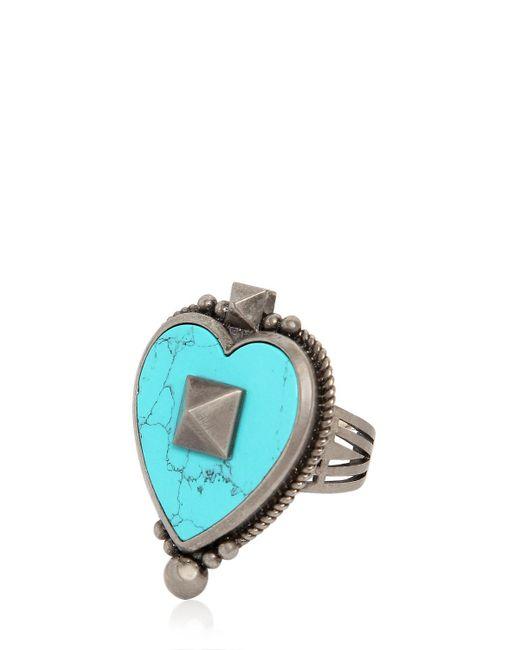 Valentino | Blue Santeria Heart Ring | Lyst
