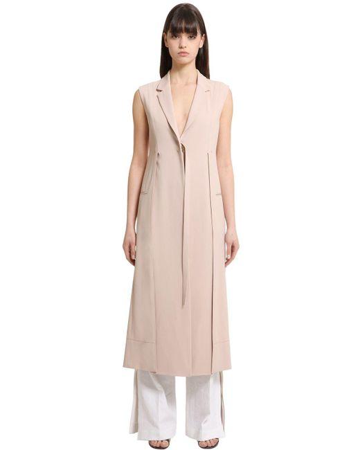 Calvin Klein | Natural Stretch Cady Long Vest | Lyst