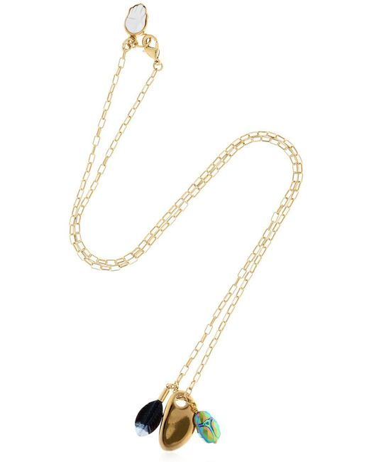 Isabel Marant - Metallic Chain Necklace With Charms - Lyst