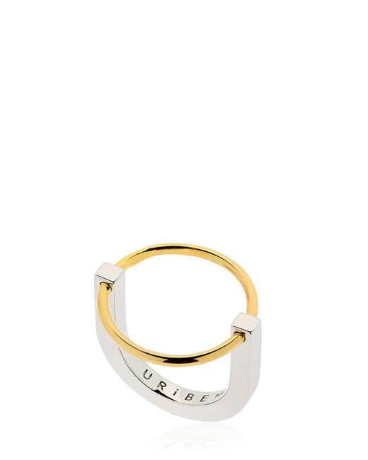 Uribe - Metallic Arno Circle Ring - Lyst