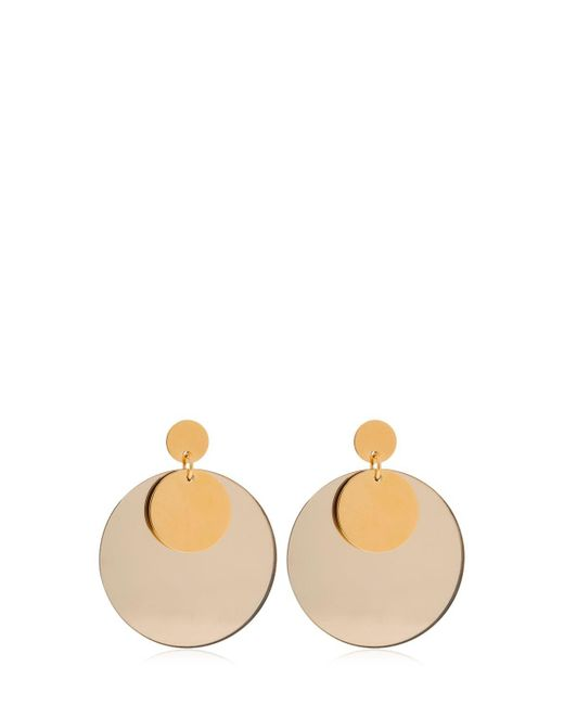 Jil Sander - Metallic Double Circle Plexi Earrings - Lyst