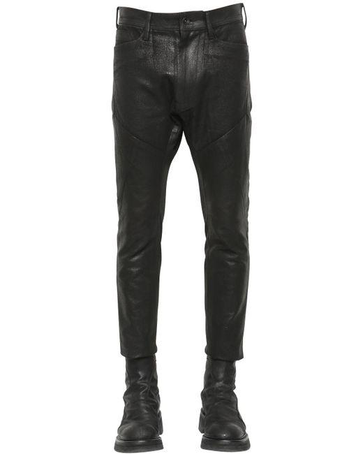 Julius | Black 16cm Patchwork Coated Canvas Pants for Men | Lyst