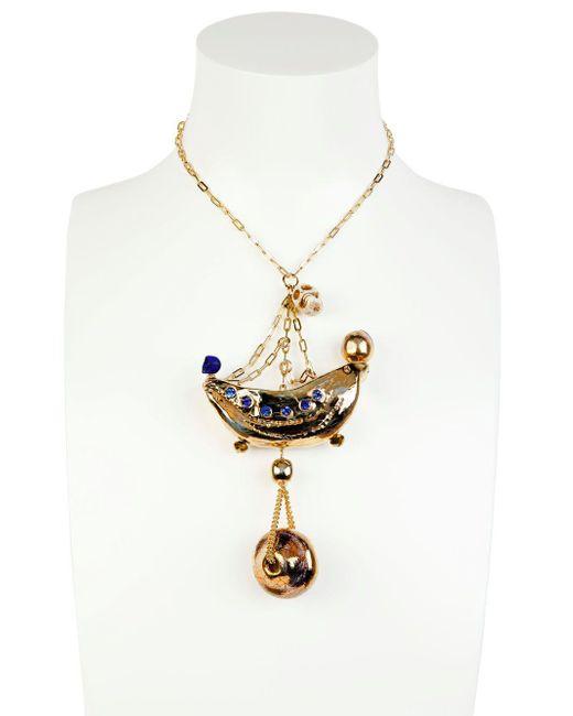 Sonia Boyajian | Metallic Gypsy Circus Gold Plated Necklace | Lyst